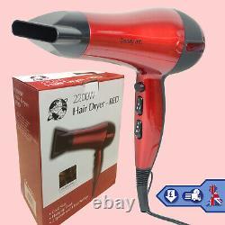 Séchoir À Air De Cheveux Red Professional Salon Avec Souffleur De Buse 2200w Chaud
