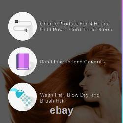 Split Ender Pro Cordless Hair Trim Salon Professional Hair Accessories & Bag Red