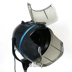 Stand Up Bonnet Sèche-cheveux Avec Minuterie Pivotant Hotte Caster Salon Professionnel