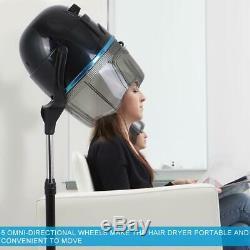 Stand Up Bonnet Sèche-cheveux Avec Minuterie Pivotant Hotte Caster Salon Professionnel Nouveau