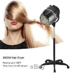 Stand Up Sèche-cheveux Minuteur Pivotant Capot Caster Beauty Salon Professionnel Nouveau