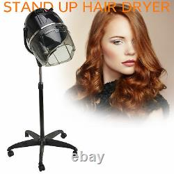 Standing Up Hair Dryer Timer Swivel Hood Caster Pour Salon Beauty Professional