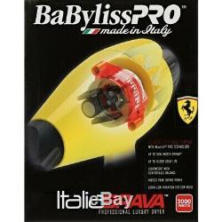 Tout Neuf! Babyliss Pro Italia Brava Pro Salon Sèche-cheveux 2000w Ferrari Moteur