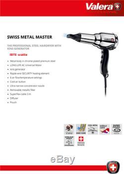 Valera Metal Master 2000 Salon Professionnel Ionique Acier Cheveux 1875w Séchoir