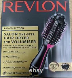 Véritable Revlon Pro Collection Salon Sèche-cheveux En Une Étape Et Volumiser Dr5222